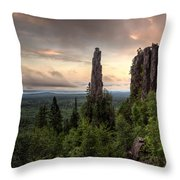 Pinnacles The Dorion Tower Throw Pillow