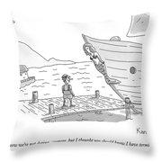 Pinocchio Addresses The Wooden Mermaid Throw Pillow