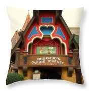 Pinocchio Daring Journey Fantasyland Disneyland Throw Pillow