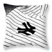 Pinstripe Pride Throw Pillow by John Rizzuto