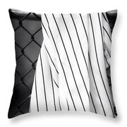 Pinstripes Throw Pillow by John Rizzuto