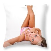 Pinup Girl's Legs Throw Pillow