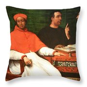 Piombo's Cardinal Bandinello Sauli And His Secretary And Two Geographers Throw Pillow