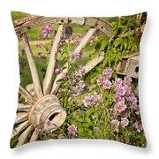 Pioneer Blossoms - Casper Wyoming Throw Pillow