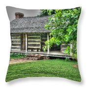 Pioneer Cabin 21 Throw Pillow