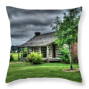 Pioneer Cabin 25 Throw Pillow