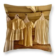 Pioneer Days-child's Dresses Throw Pillow