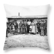 Pioneer Family Portrait Throw Pillow