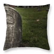 Pioneer Grave Throw Pillow by Jean Noren
