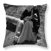 Pioneer Kid Play Throw Pillow