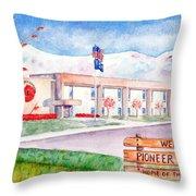 Pioneer Peak Elementary School Throw Pillow