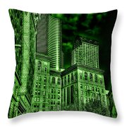 Pioneer Square In The Emerald City - Seattle Washington Throw Pillow