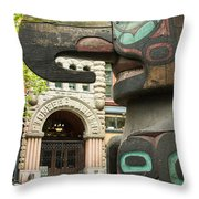Pioneer Square Seattle Throw Pillow