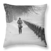 Pioneering The Alley - Featured 3 Throw Pillow
