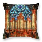 Pipe Organ Throw Pillow