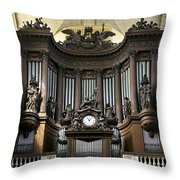 Pipe Organ In St Sulpice Throw Pillow