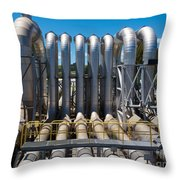 Pipeline Installation For Distribution And Supply Throw Pillow