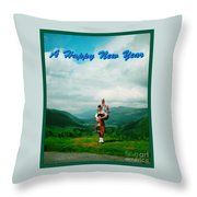 Piper Greeting The New Year Throw Pillow