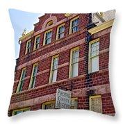 Pipestone County Museum-1886 In Pipestone-minnesota  Throw Pillow
