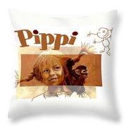 Pippi Longstocking - Fan Version Throw Pillow