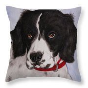Pippy The Springer Spaniel Throw Pillow