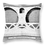 Piranesi: Ponte Fabrizio Throw Pillow