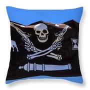 Pirate Flag With Skull And Pistols Throw Pillow
