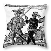 Pirate Henry Every, 1725 Throw Pillow