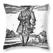 Pirate John Rackam, 1725 Throw Pillow