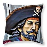 Pirate Man Throw Pillow