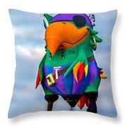 Pirate Parrot Pegleg Pete Throw Pillow