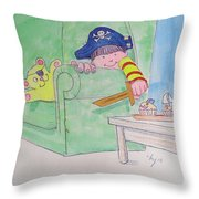 Pirate Poster For Kids Throw Pillow