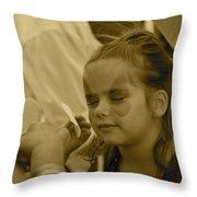 Pirate Princess Sepia Throw Pillow