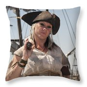 Pirate Queen With A Bad Attitude Throw Pillow