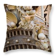 Pirate Ship 1 Throw Pillow by Douglas Barnett
