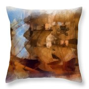 Pirate Ship Photo Art Throw Pillow