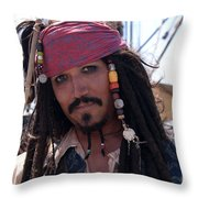 Pirate With Kind Eyes Throw Pillow