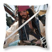 Pirate With Sword Throw Pillow