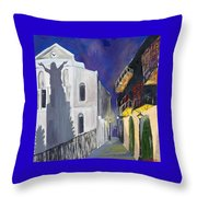 Pirate's Alley French Quarter Painting  Throw Pillow
