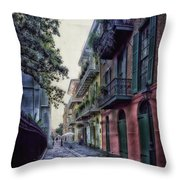 Pirate's Alley In New Orleans Throw Pillow