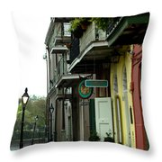 Pirates Alley In The Rain  Throw Pillow