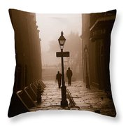 Pirate's Alley  New Orleans Throw Pillow
