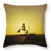 Pirates At Sea - Caribbean Throw Pillow