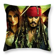 Pirates Of The Caribbean Stranger Tides Throw Pillow