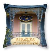 Pirates Signage New Orleans Disneyland Throw Pillow