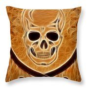 Pirates Skull Digtal Painting Throw Pillow