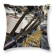 Pirn Winding Machine Throw Pillow