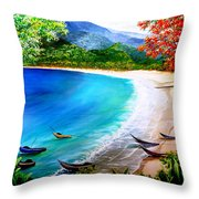 Pirogues At Rest Throw Pillow