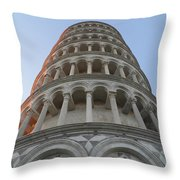 Pisa Leaning Tower At Sunset Tuscany Throw Pillow