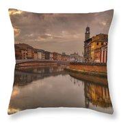 Pisa On The Arno Throw Pillow